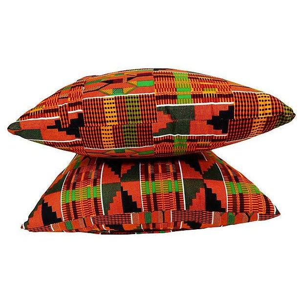 Kente Cloth Pillows, Pair - Image 5 of 5