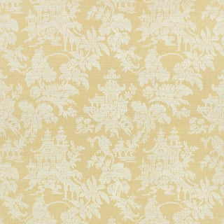 Sample - Schumacher Brighton Sisal Wallpaper in Natural For Sale