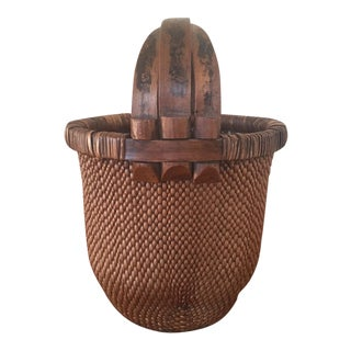 Brown Woven Large Basket