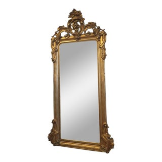 19th Century American Classical Gilt Pier Mirror For Sale