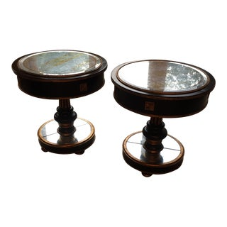 Mid Century Modern- Smoke Mirrored End Tables - Priced as a Pair. Century Furniture Brand For Sale