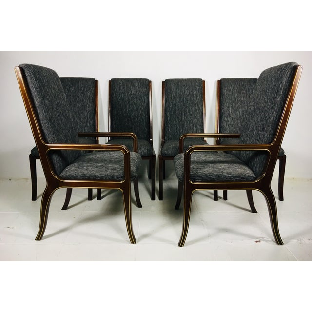 1970s Vintage Baker Furniture Company Dining Room Chairs- Set of 6 For Sale - Image 12 of 13