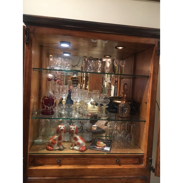 Glass Traditional Sarried Marbella Cabinet For Sale - Image 7 of 12