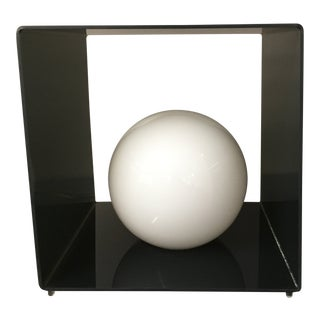 Pop Modern Smoked Lucite Cubist Light For Sale