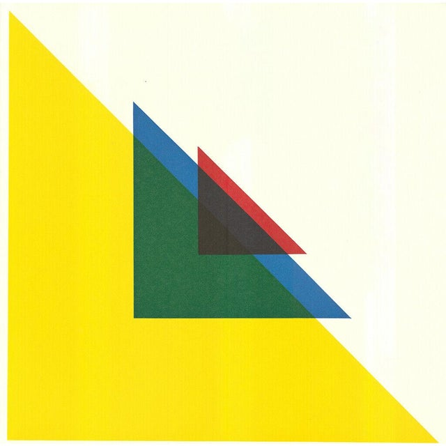 1967 Andreas Christen Geometric Composition Color Silkscreen - Signed For Sale