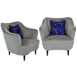 Pair of Midcentury Italian Armchairs For Sale