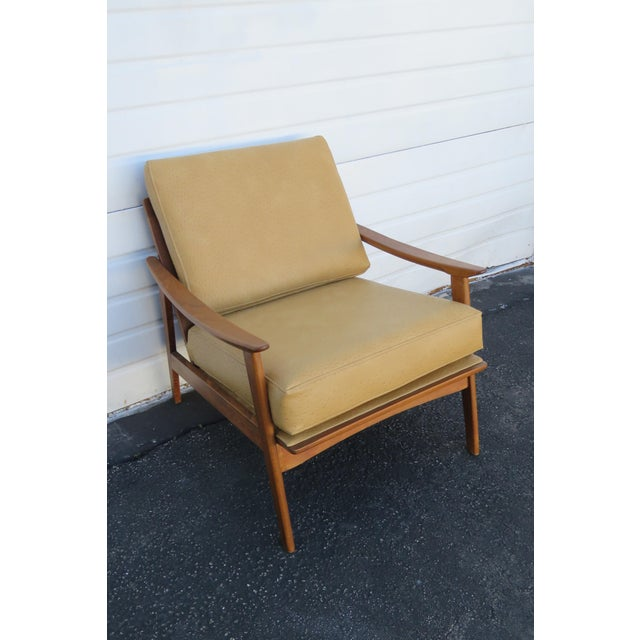 Mid-Century Modern Mid Century Modern Living Bed Room Sling Side Chair 1209 For Sale - Image 3 of 13