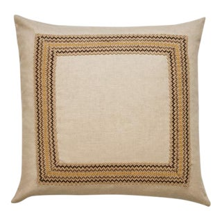 "Piper Collection Solid Natural Linen ""Bohemia"" Pillow"