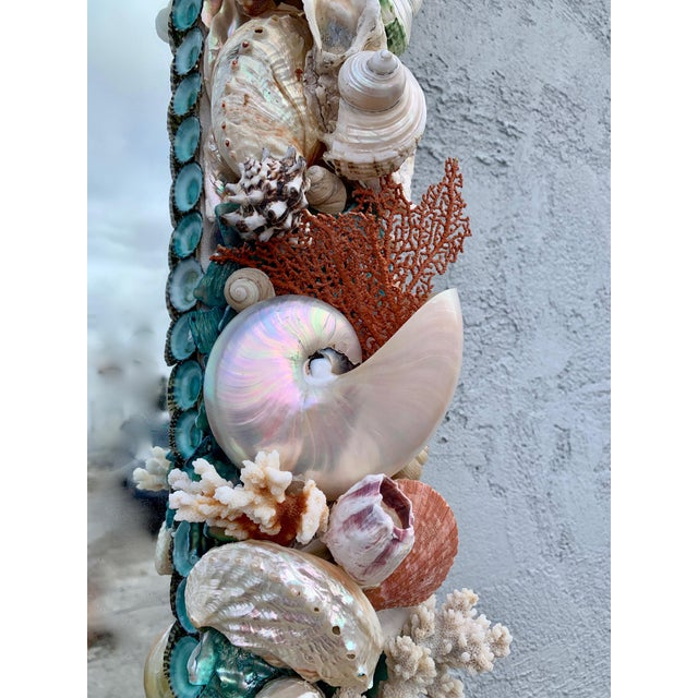 "Contemporary ""Rustica"" Shell-Encrusted Mirror For Sale - Image 3 of 5"
