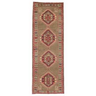 Vintage Persian Azerbaijan Runner - 3′6″ × 10′ For Sale