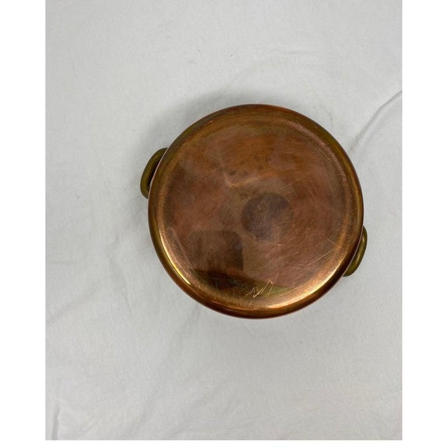 Small Copper Pot With Brass Handles and Lid For Sale - Image 9 of 13