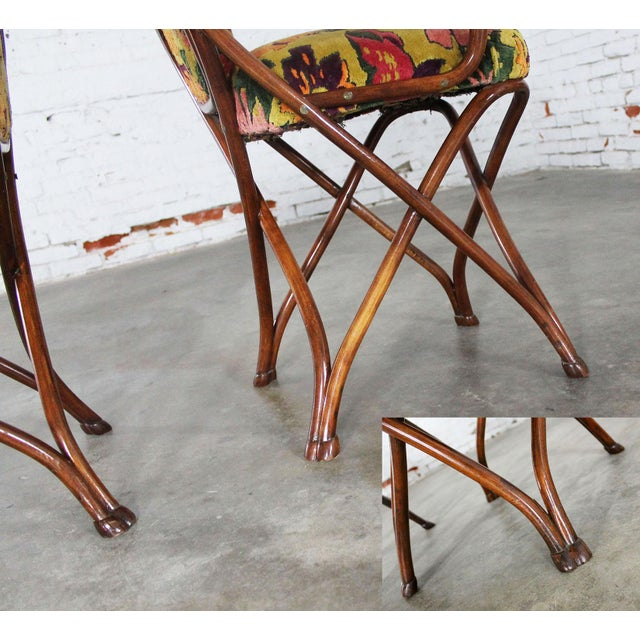 Antique Gebruder Thonet Bentwood Chairs - Set of 4 For Sale - Image 11 of 11