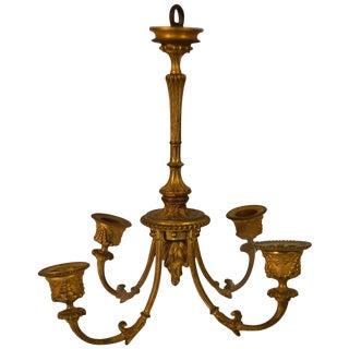 Louis XVI Small Hanging Bronze Light Fixture For Sale
