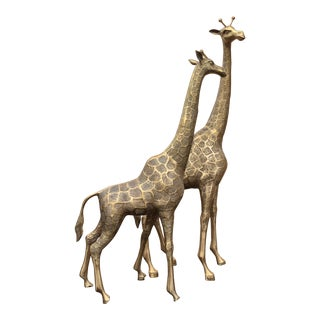 Mid-Century Brass Giraffes - a Pair For Sale