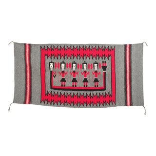 Vintage Navajo Wool Yei Rug For Sale