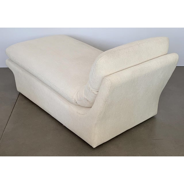Modernist Fully Upholstered Chaise Lounge by Preview For Sale - Image 10 of 13