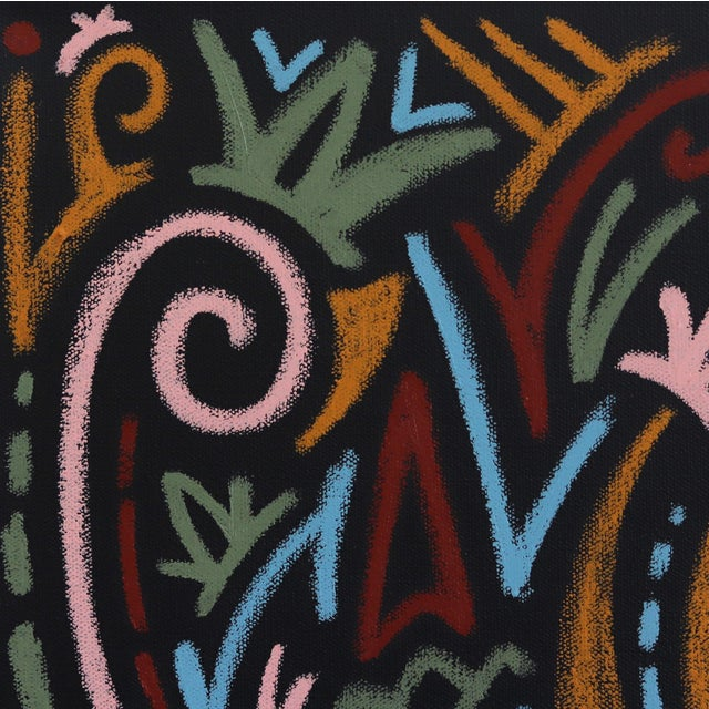 """Abstract """"The Jungle Awakens"""" Original Artwork on Canvas by Ilan Leas For Sale - Image 3 of 10"""
