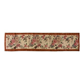 """1950s Turkish Antique White and Red Wool Runner - 2'1""""x8'11"""" For Sale"""