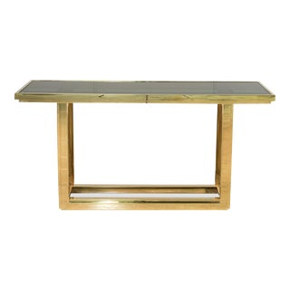 Donahue Steel & Glass Console For Sale