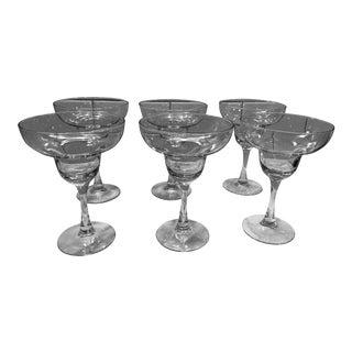 Pottery Barn Margarita Glasses - Set of 6 For Sale