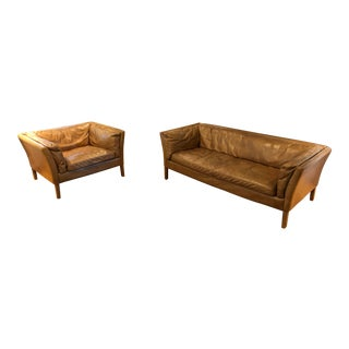 Restoration Hardware Sorenson Couch & Chair For Sale
