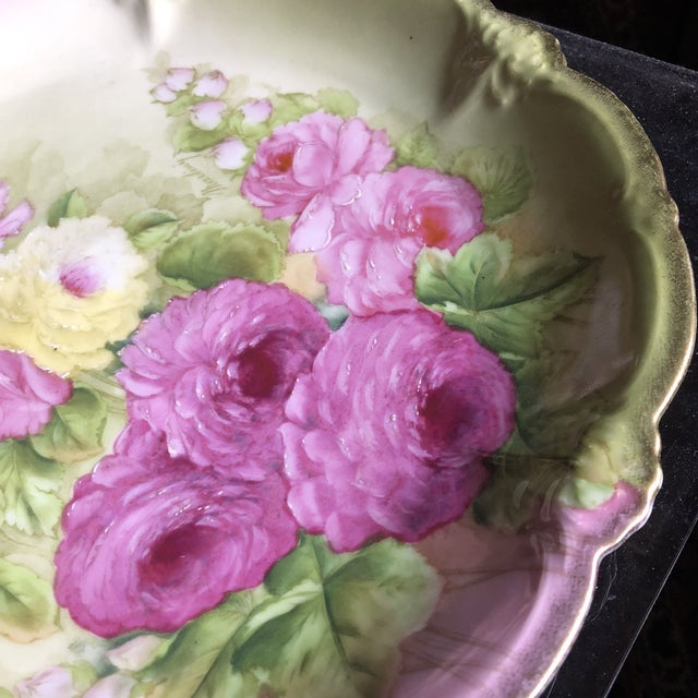 Vintage Hand Painted and Signed Vintage Bavarian Charger Plate For Sale - Image 11 of 13