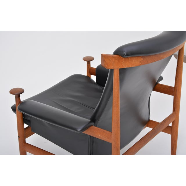 Mid 20th Century Black Reupholstered Bwana Model 152 Lounge Chair by Finn Juhl for France & Son For Sale - Image 5 of 12