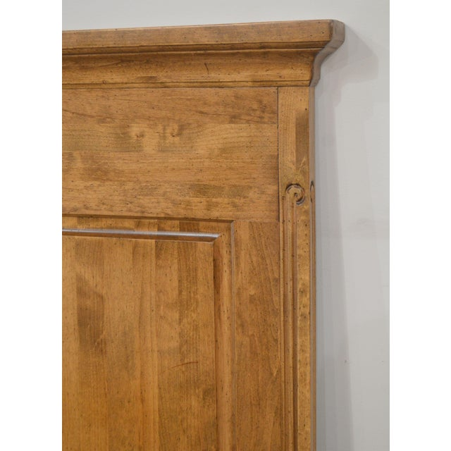 French Country Style Quality High Back Pine King Headboard For Sale - Image 11 of 13