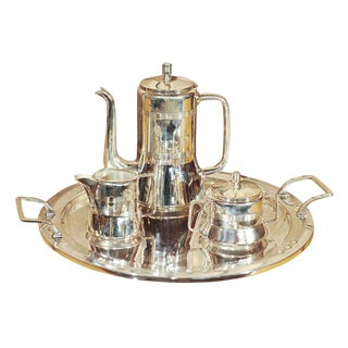 Silver Plate Coffee Set/Arts and Crafts Era For Sale