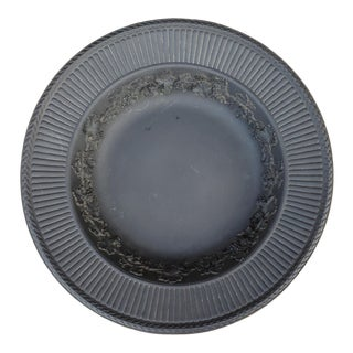 "Antique Early 20th Century Wedgwood Grapevine Pattern Black Basalt Centerpiece Bowl C1901 13.75"" For Sale"