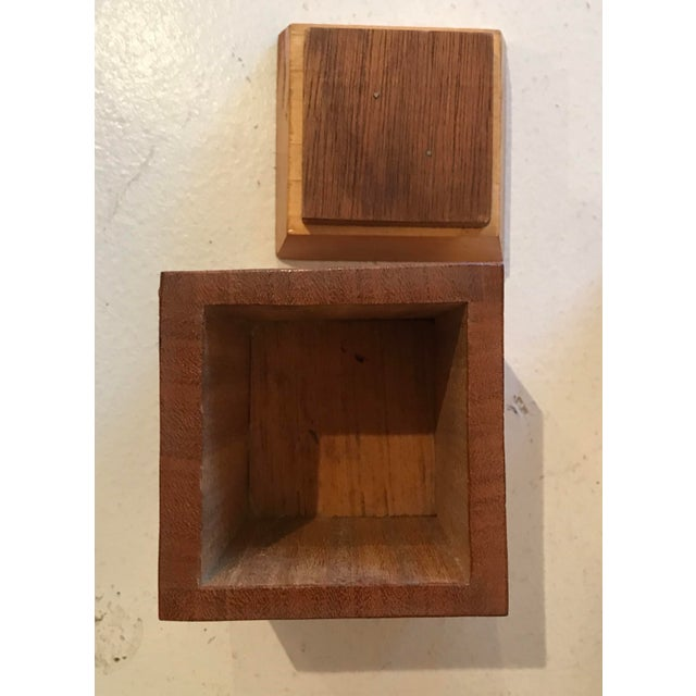 1950s Mid Century Modern Wooden Lidded Boxes - Set of 4 For Sale - Image 4 of 6