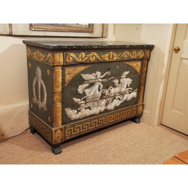 Traditional 20th Century Italian Empire Commode For Sale - Image 3 of 12