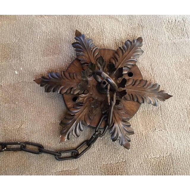 Bronzed Metal Nineteen-Light Florentine Chandelier For Sale - Image 9 of 12