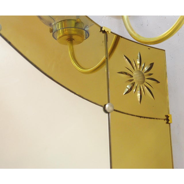 Metal Italian Mirror With Console by Pier Luigi Colli For Sale - Image 7 of 9