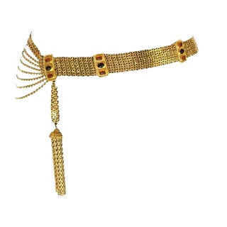 Chanel Maison Gripoix Chain Tassel Belt. High Impact. Gorgeous. For Sale