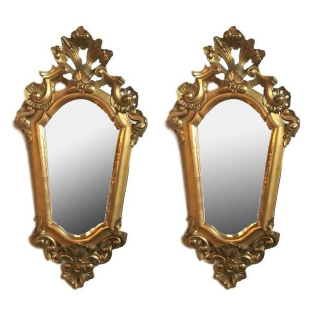 Italian Gilt Carved Mirrors - A Pair - Image 1 of 5