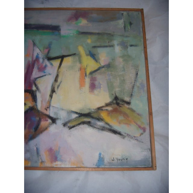 Signed 1961 Jean Young Abstract Painting - Image 7 of 11