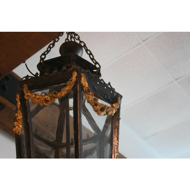 Late 19th Century 19th Century Louis XV Style Iron Lantern For Sale - Image 5 of 9