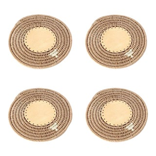 Round Coasters Flax - Set of 4 For Sale