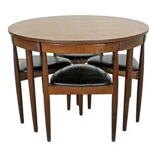 Mid-Century Danish Modern Hans Olsen Teak Roundette Dining Set For Sale