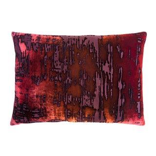 Wildberry Brushstroke Velvet Pillow