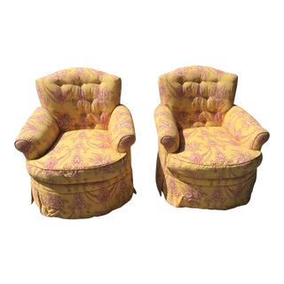 Vintage Jane Shelton Arm Chairs - a Pair For Sale