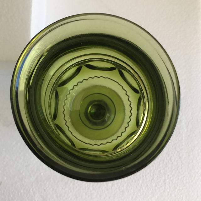 Mid-Century Green Goblet Glasses - Set of 7 For Sale In Los Angeles - Image 6 of 10
