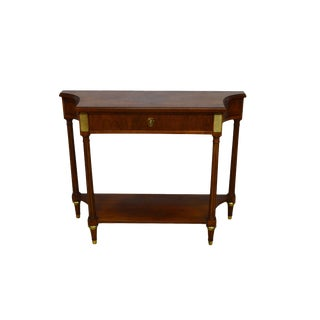 Late 20th Century Baker Walnut Commode Server Hall Table For Sale