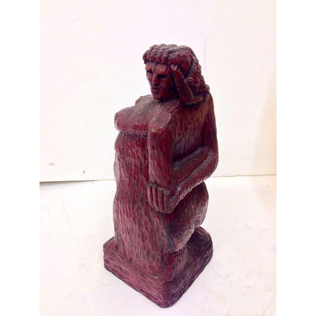 Nude Woman Wooden Figure For Sale - Image 4 of 9