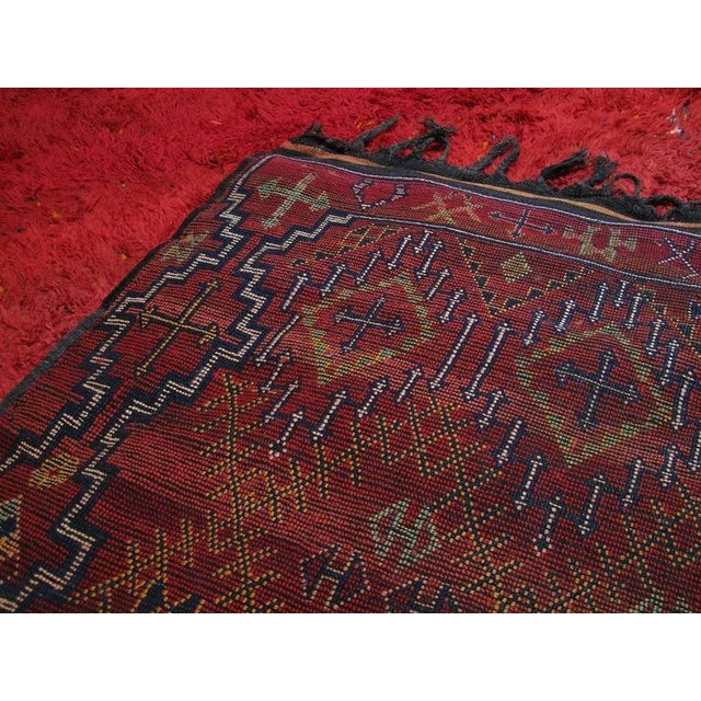 "Textile ""Firebird"", Zayan Moroccan Berber Carpet For Sale - Image 7 of 10"