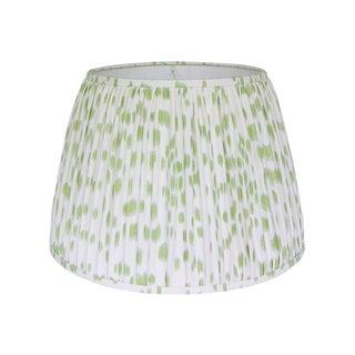 Green Print Pleated Lamp Shade