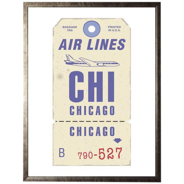 "Chicago Travel Ticket - 23.5"" X 29.5"" For Sale"