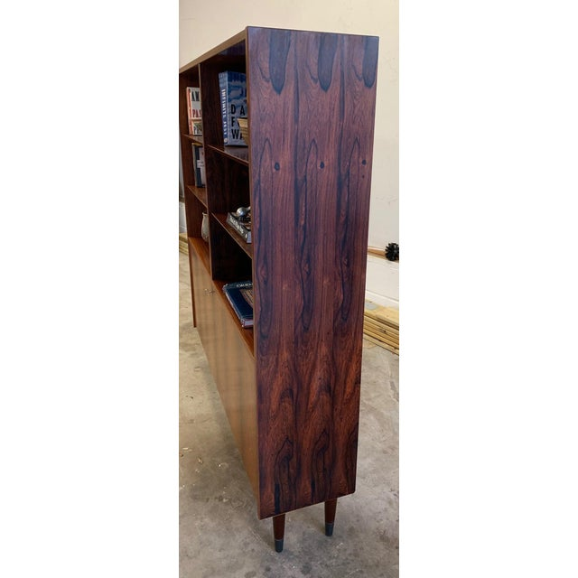 Danish Mid Century Modern Rosewood Bookcase / China Cabinet For Sale - Image 9 of 11
