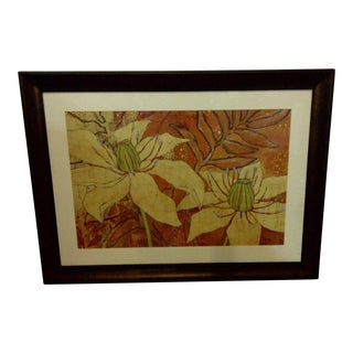 "Original ""Flower Petals"" Heavy Duty Framed Painting For Sale"